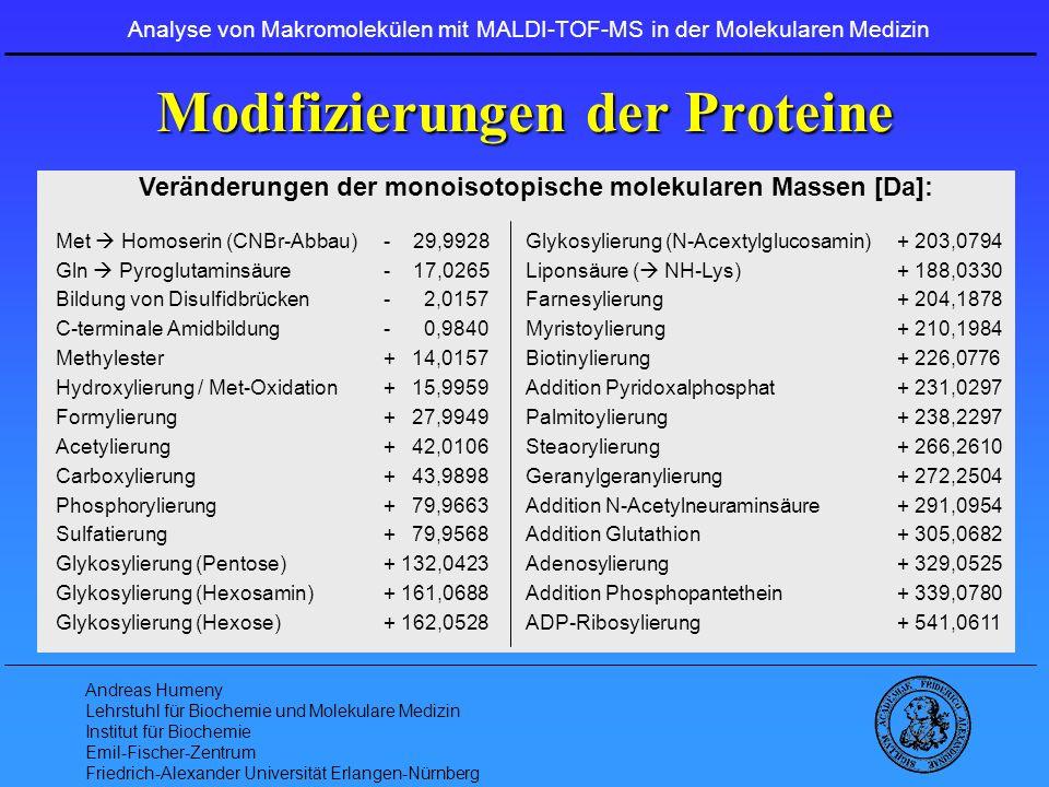 Modifizierungen der Proteine