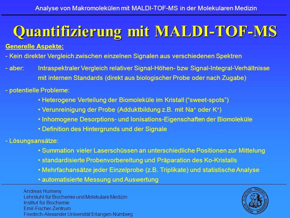 Quantifizierung mit MALDI-TOF-MS