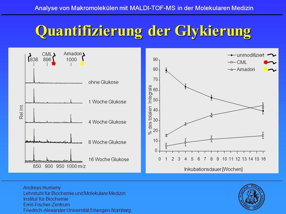 Quantifizierung der Glykierung
