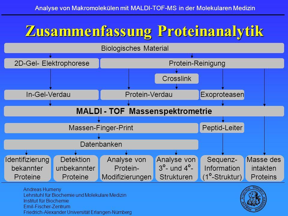 Zusammenfassung Proteinanalytik