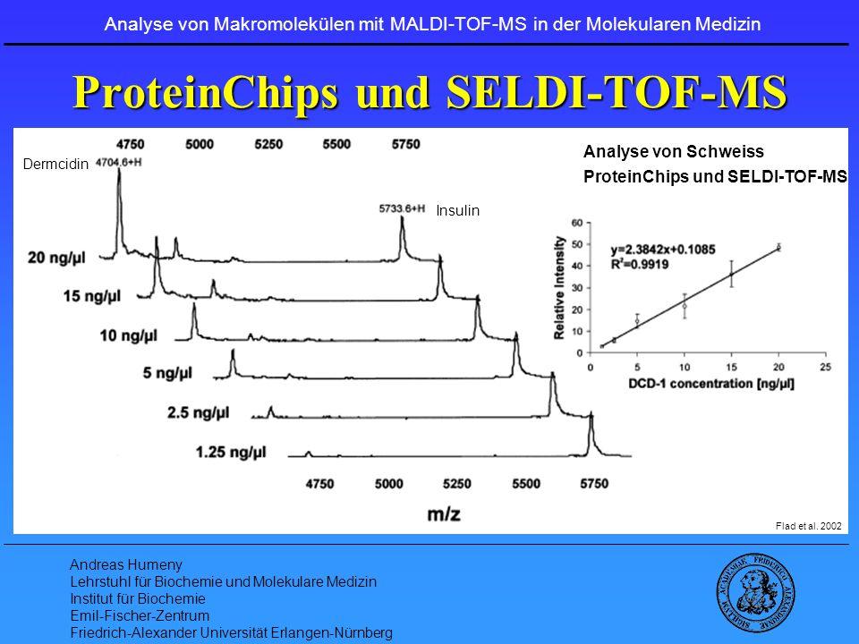 ProteinChips und SELDI-TOF-MS
