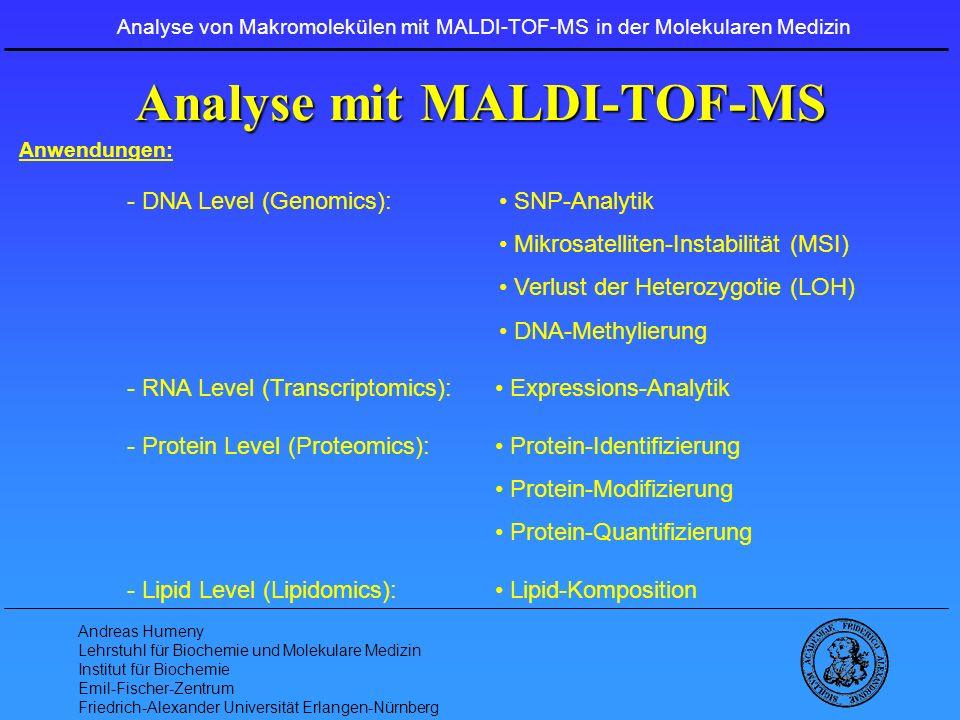Analyse mit MALDI-TOF-MS