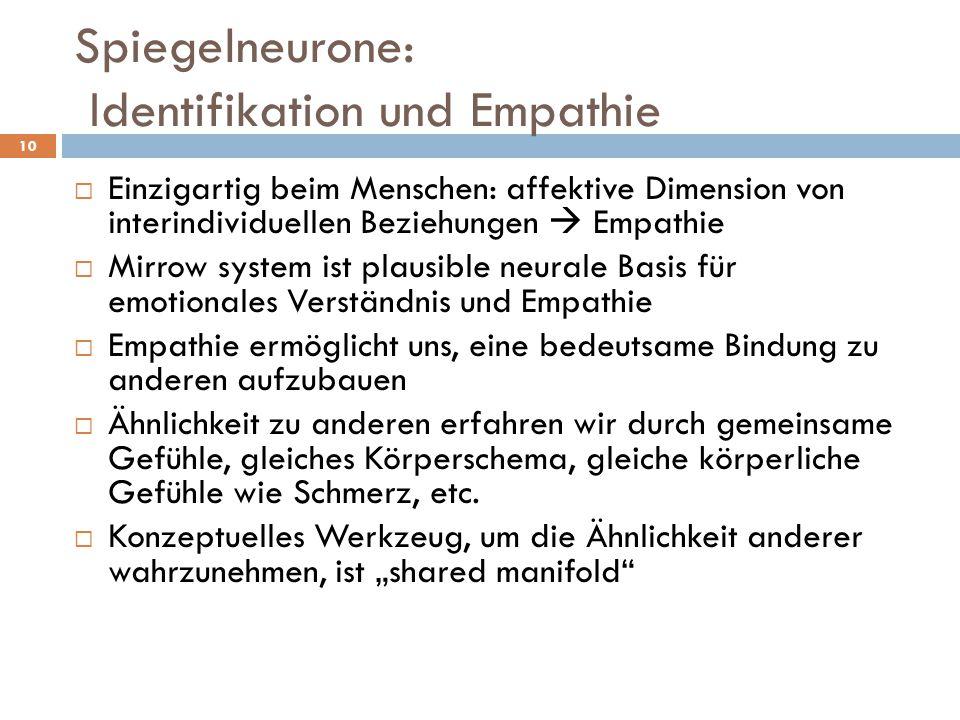Spiegelneurone: Identifikation und Empathie