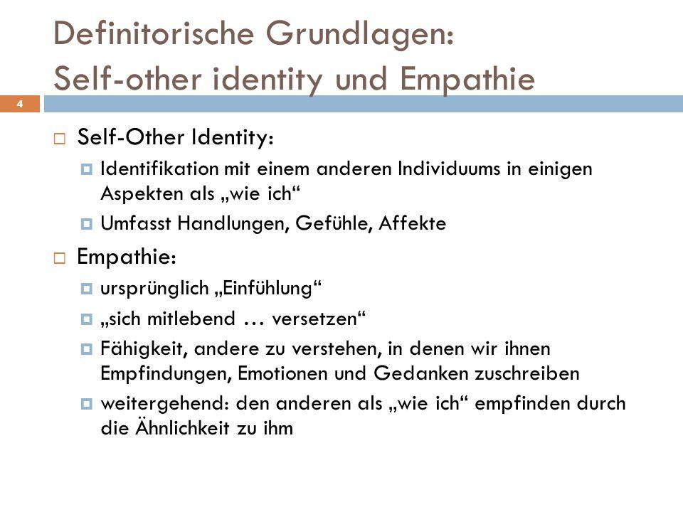 Definitorische Grundlagen: Self-other identity und Empathie