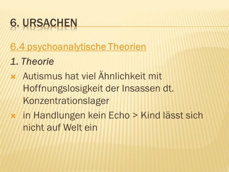 6. ursachen 6.4 psychoanalytische Theorien 1. Theorie