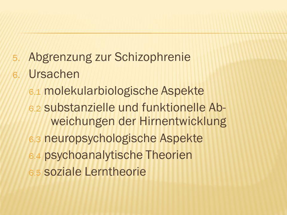 Abgrenzung zur Schizophrenie