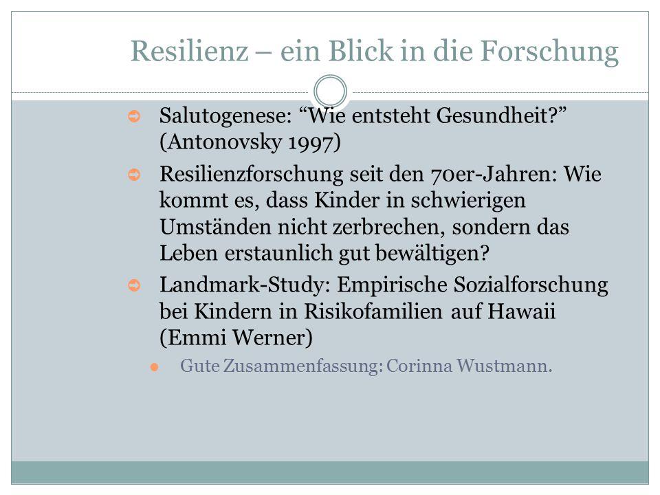 Resilienz – ein Blick in die Forschung