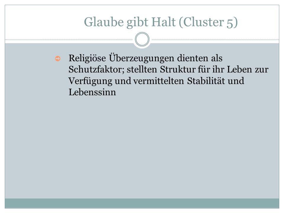 Glaube gibt Halt (Cluster 5)