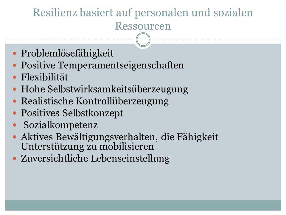 Resilienz basiert auf personalen und sozialen Ressourcen