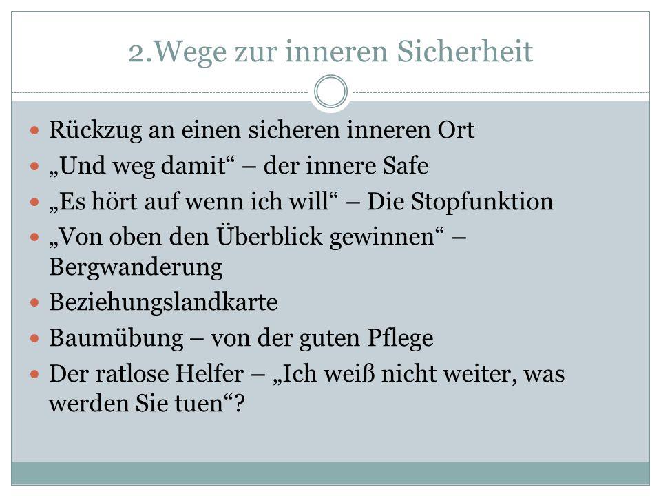 2.Wege zur inneren Sicherheit