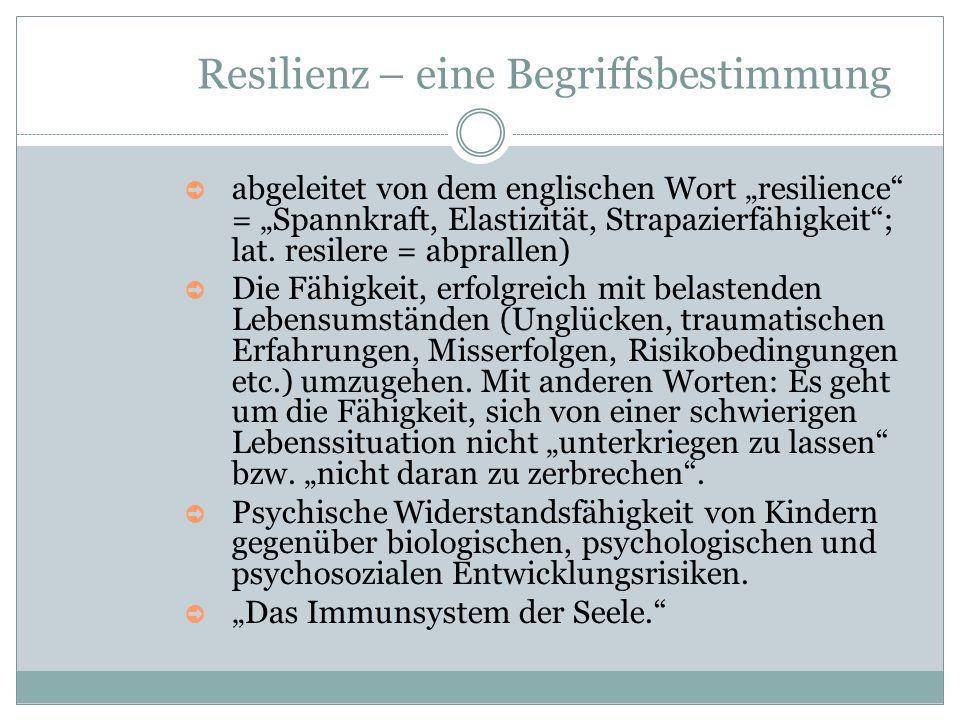 Resilienz – eine Begriffsbestimmung