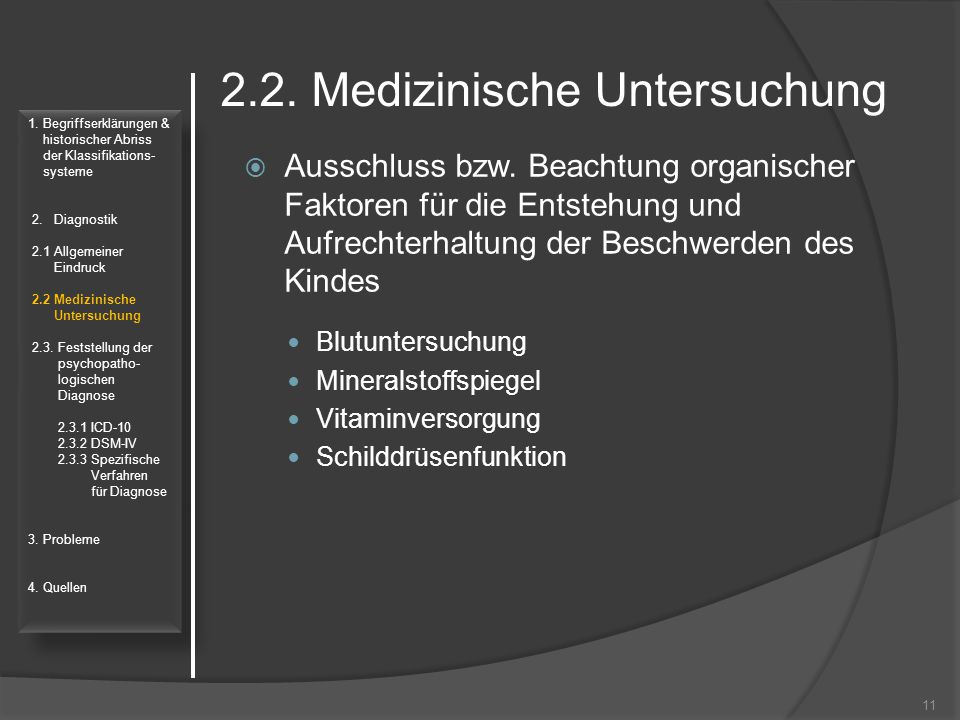 2.2. Medizinische Untersuchung