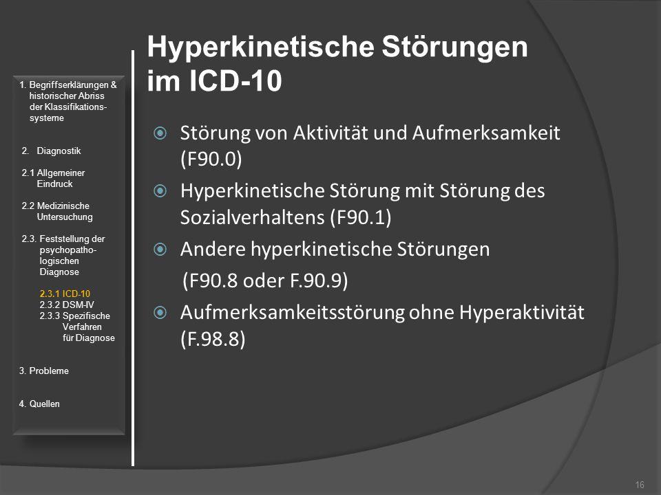 Hyperkinetische Störungen im ICD-10