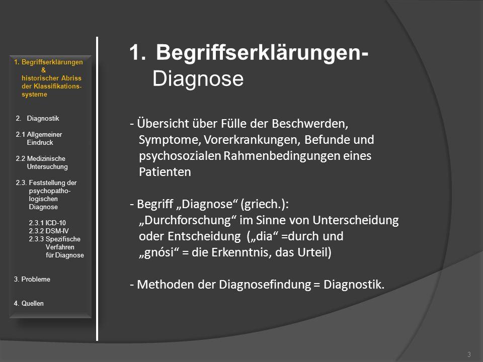 Begriffserklärungen- Diagnose