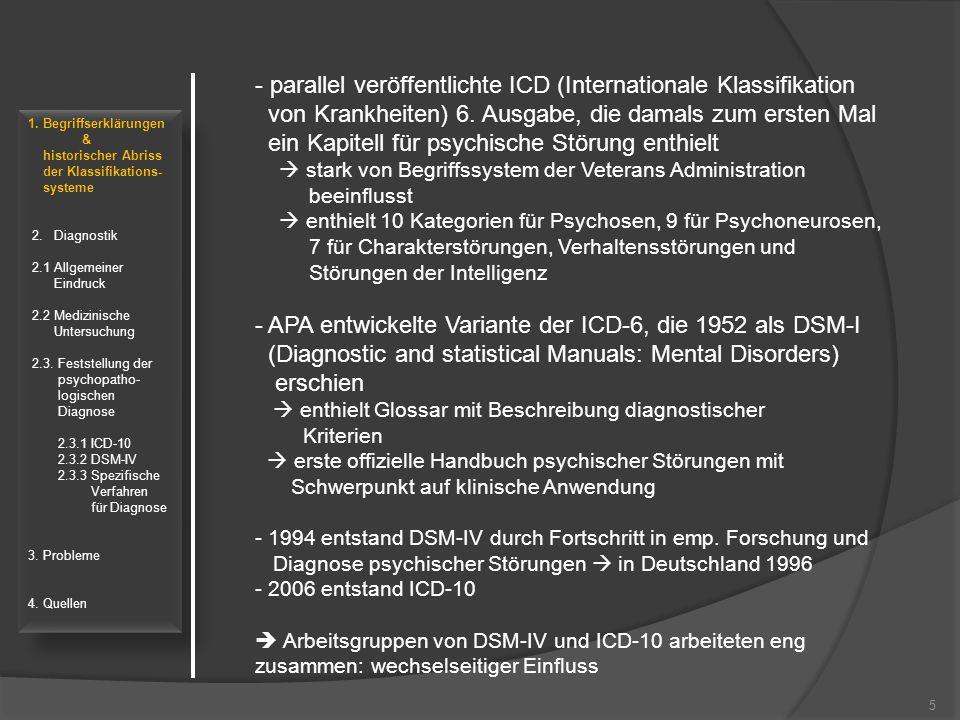 parallel veröffentlichte ICD (Internationale Klassifikation