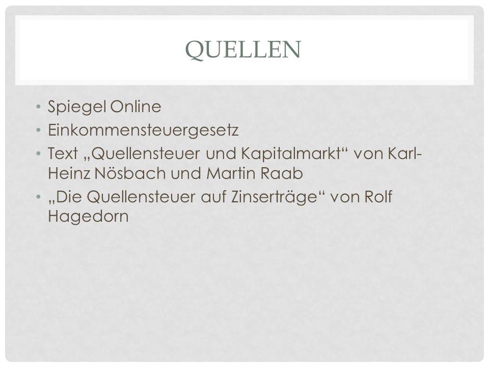 Quellen Spiegel Online Einkommensteuergesetz