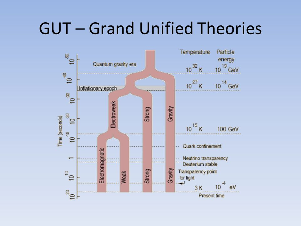 GUT – Grand Unified Theories