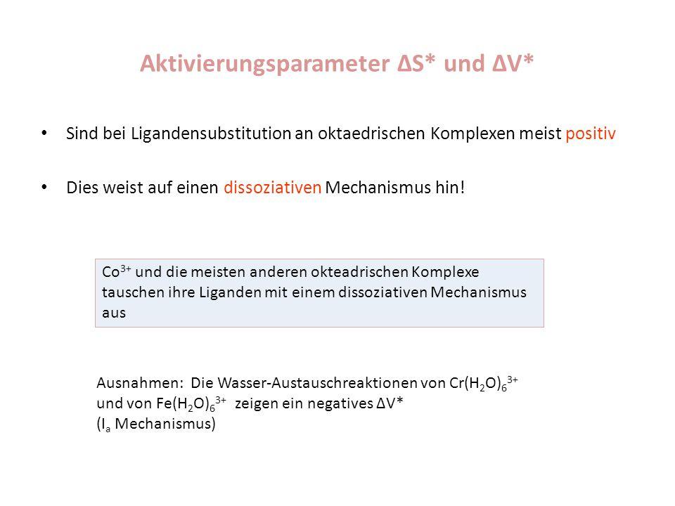 Aktivierungsparameter ΔS* und ΔV*