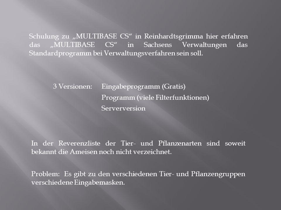 """Schulung zu """"MULTIBASE CS in Reinhardtsgrimma hier erfahren das """"MULTIBASE CS in Sachsens Verwaltungen das Standardprogramm bei Verwaltungsverfahren sein soll."""