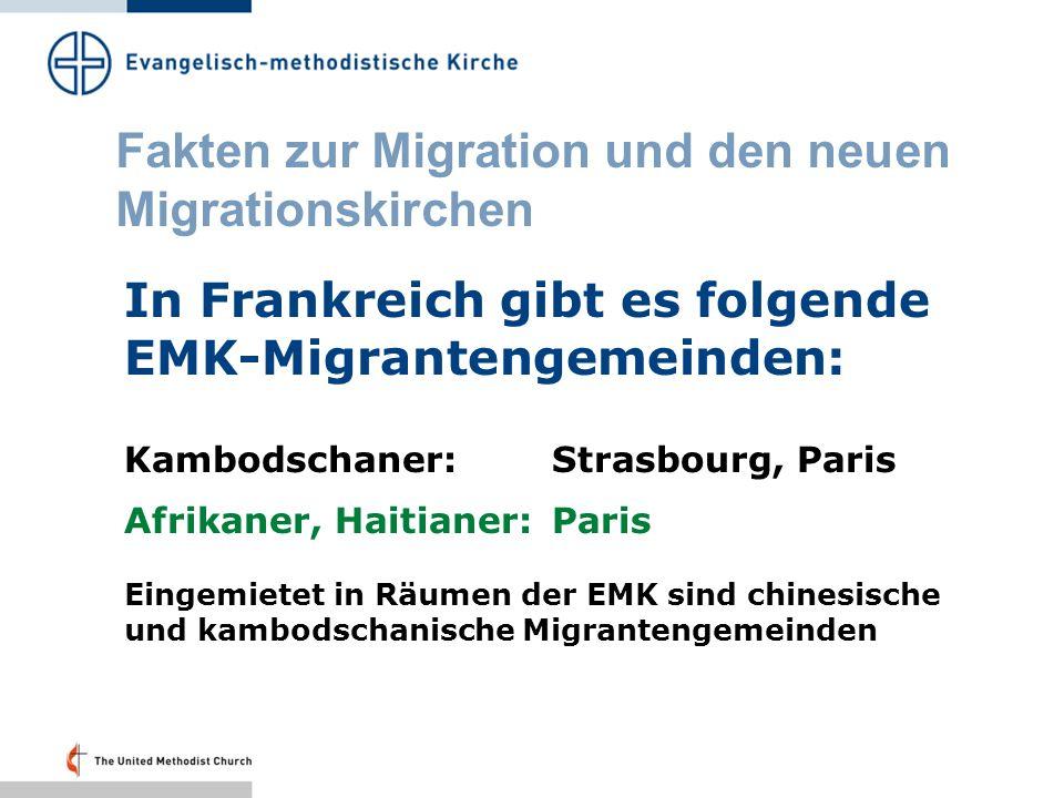 Fakten zur Migration und den neuen Migrationskirchen