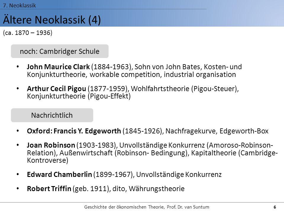 Ältere Neoklassik (4) noch: Cambridger Schule