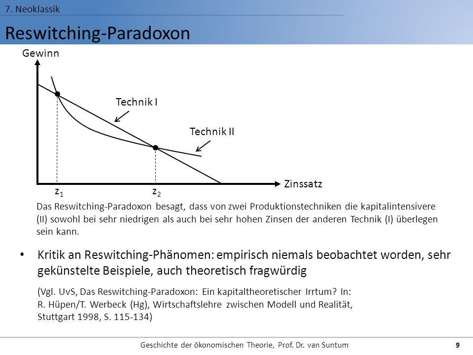 Reswitching-Paradoxon