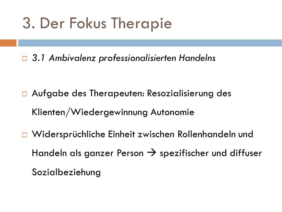 3. Der Fokus Therapie 3.1 Ambivalenz professionalisierten Handelns