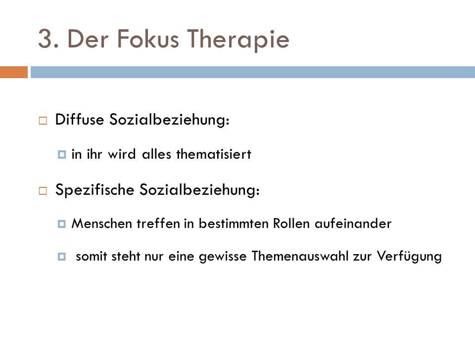 3. Der Fokus Therapie Diffuse Sozialbeziehung: