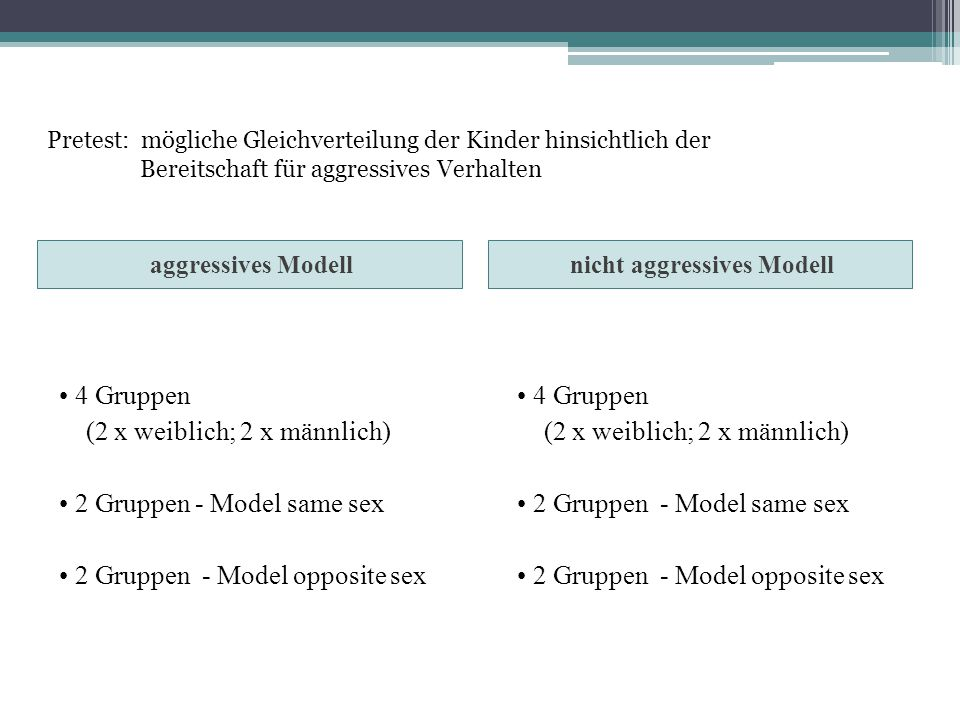 nicht aggressives Modell