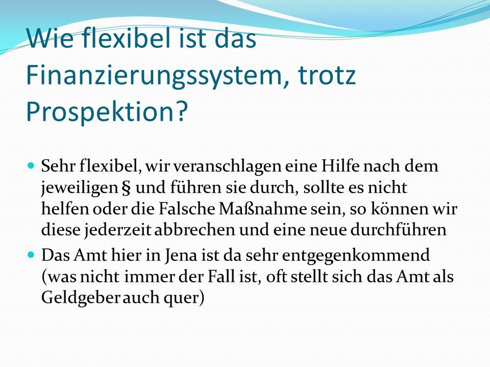 Wie flexibel ist das Finanzierungssystem, trotz Prospektion