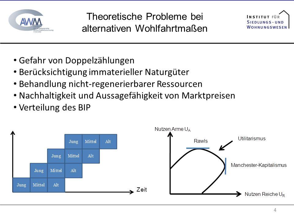 Theoretische Probleme bei alternativen Wohlfahrtmaßen