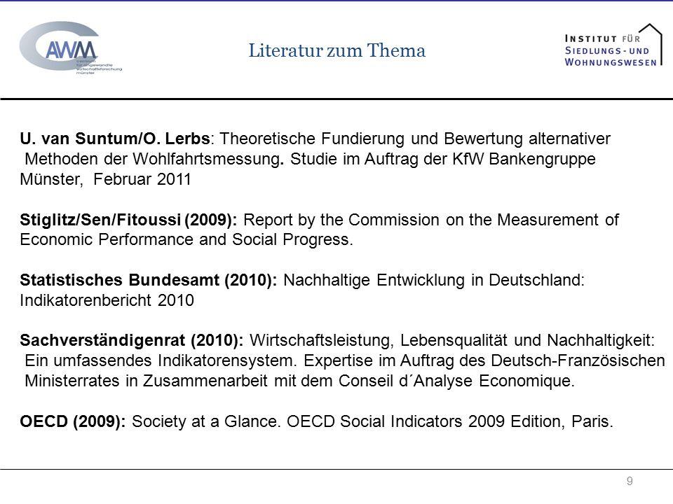 Literatur zum Thema U. van Suntum/O. Lerbs: Theoretische Fundierung und Bewertung alternativer.