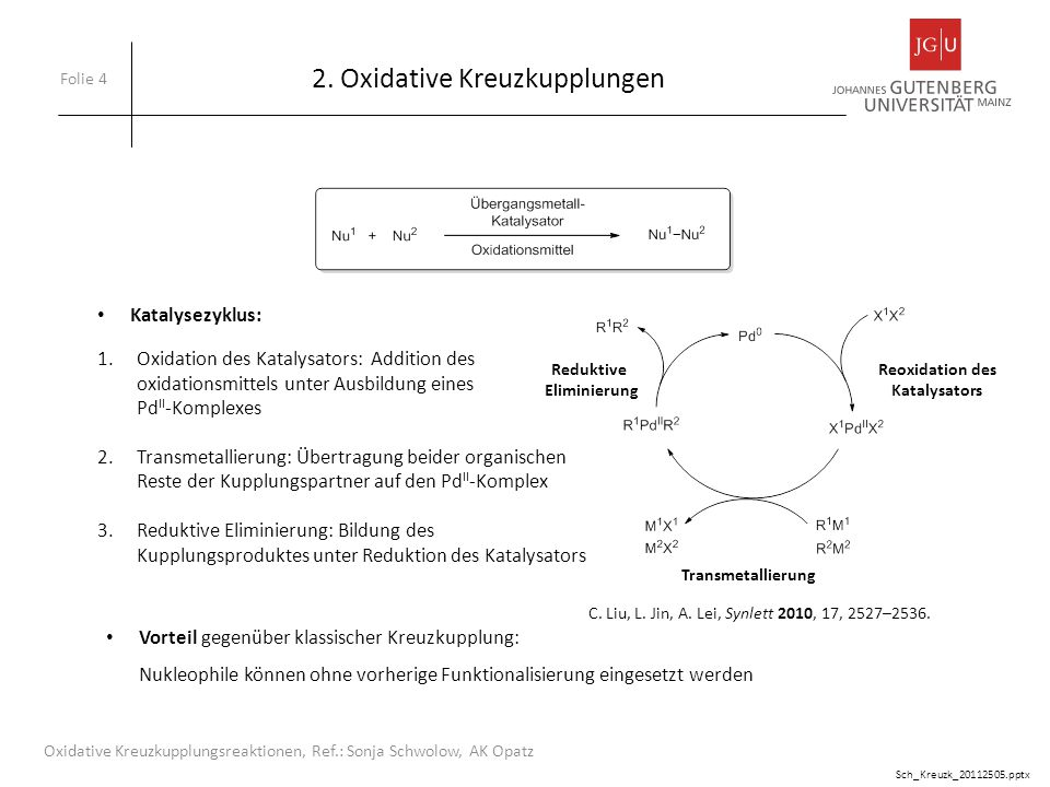 2. Oxidative Kreuzkupplungen
