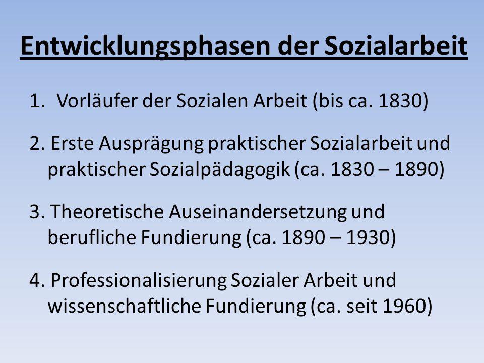 Entwicklungsphasen der Sozialarbeit
