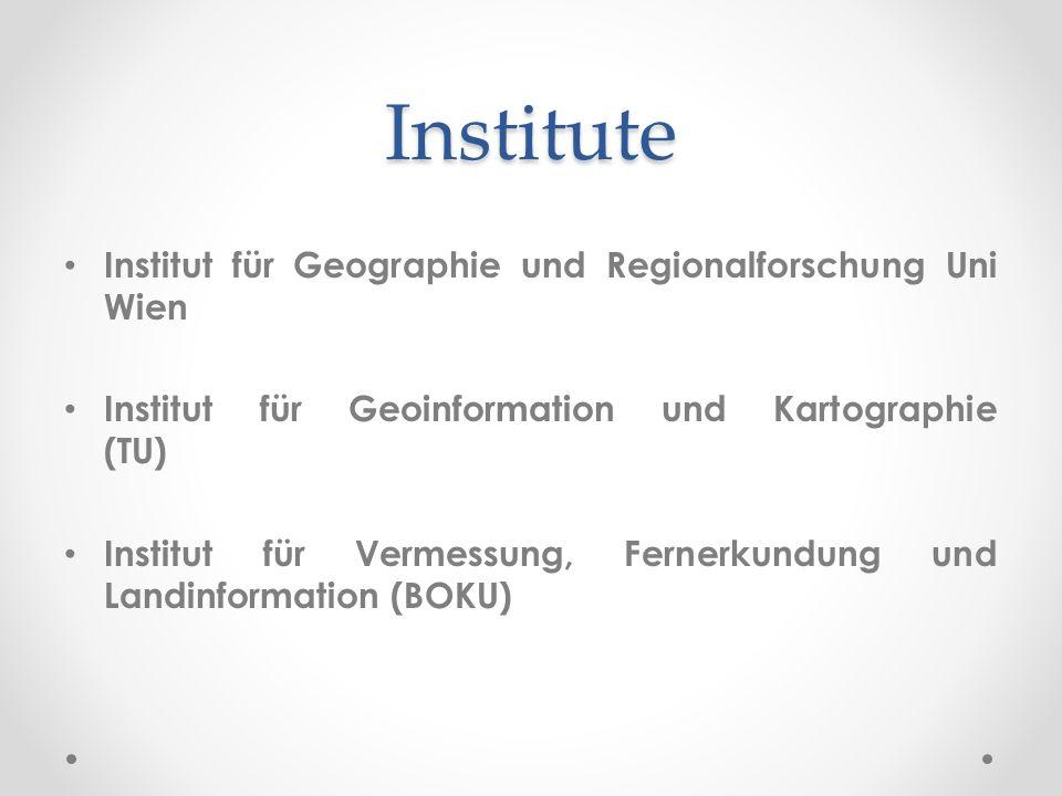 Institute Institut für Geographie und Regionalforschung Uni Wien