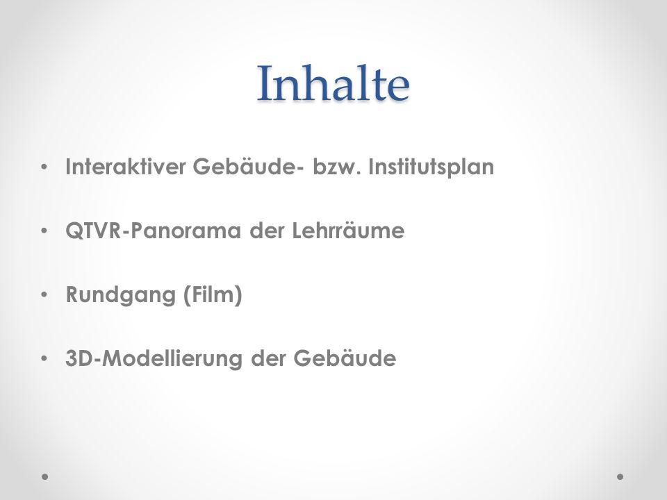 Inhalte Interaktiver Gebäude- bzw. Institutsplan
