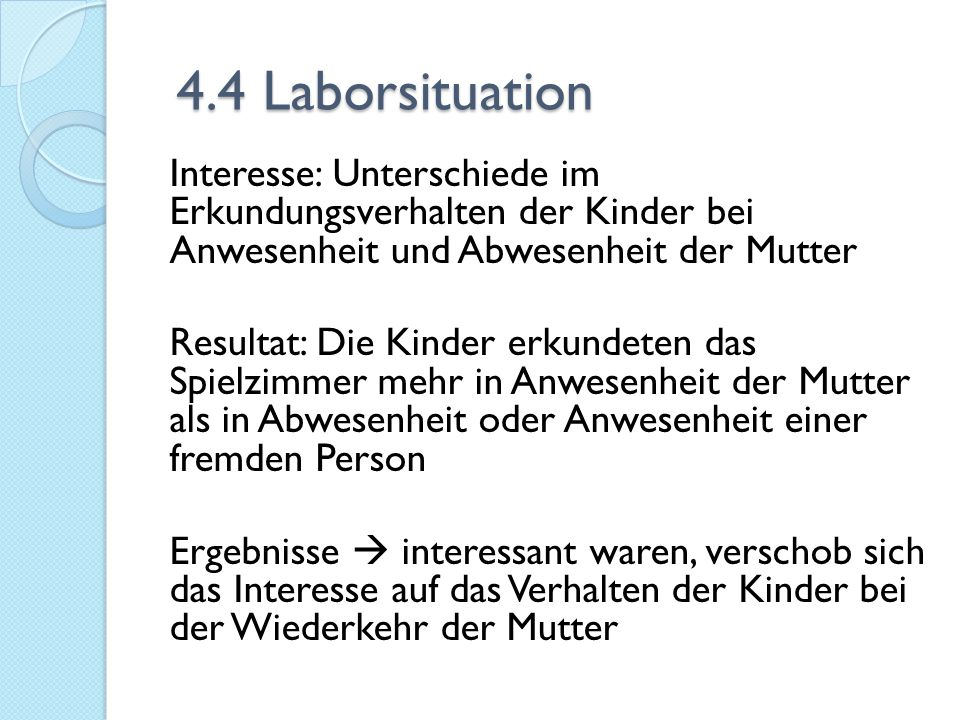 4.4 Laborsituation