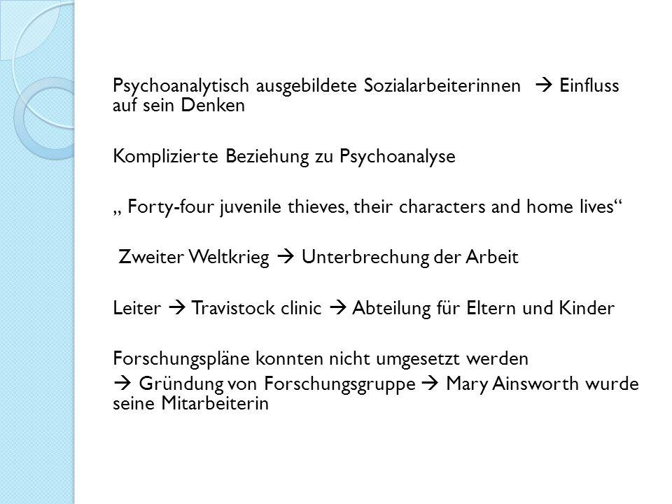 Psychoanalytisch ausgebildete Sozialarbeiterinnen  Einfluss auf sein Denken