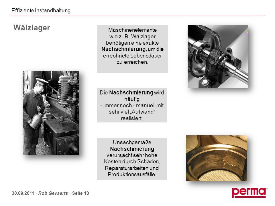 Manuelle Schmierung - Schmiervorschriften