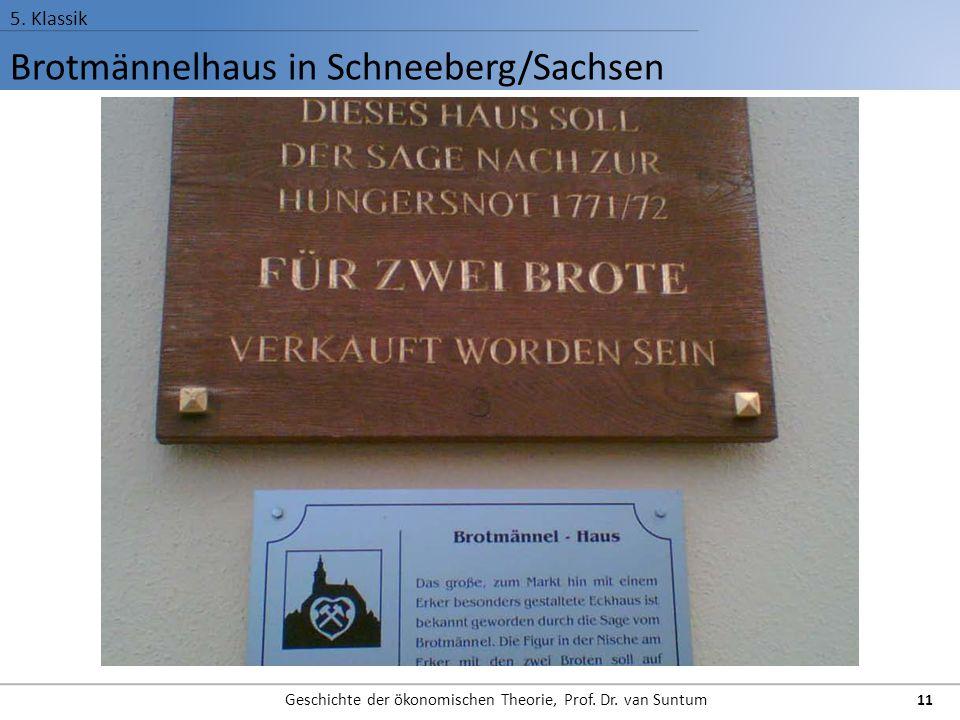 Brotmännelhaus in Schneeberg/Sachsen