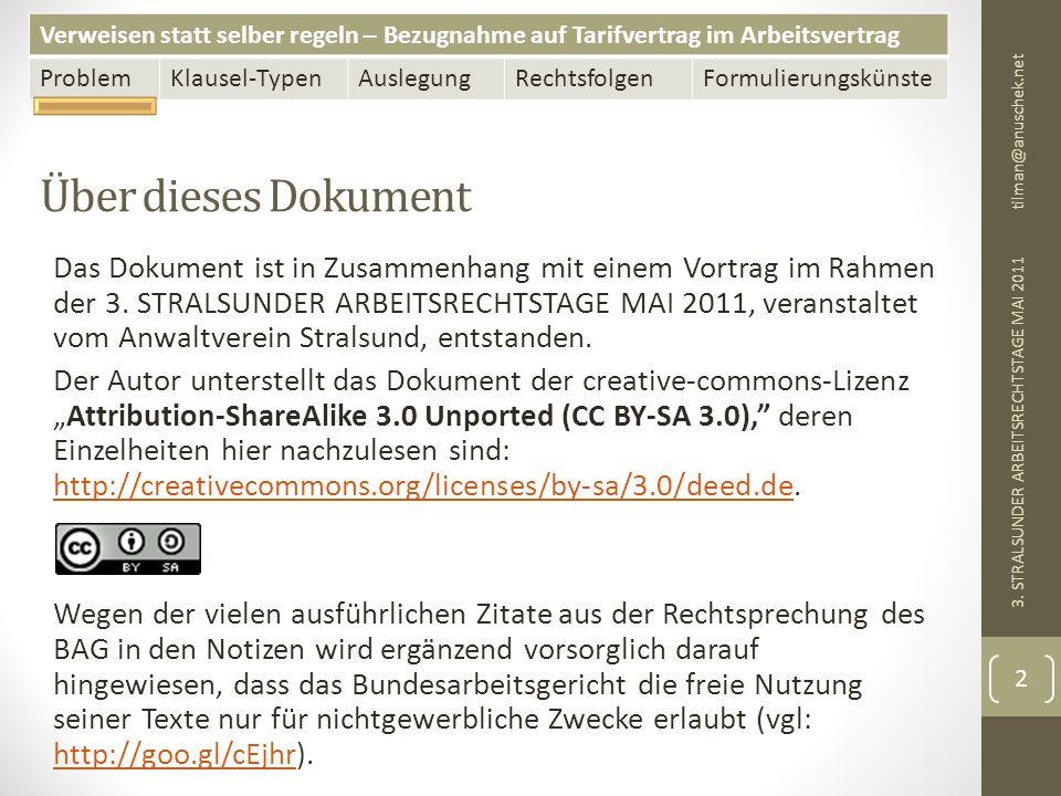 13. Mai 2011 tilman@anuschek.net. Über dieses Dokument.
