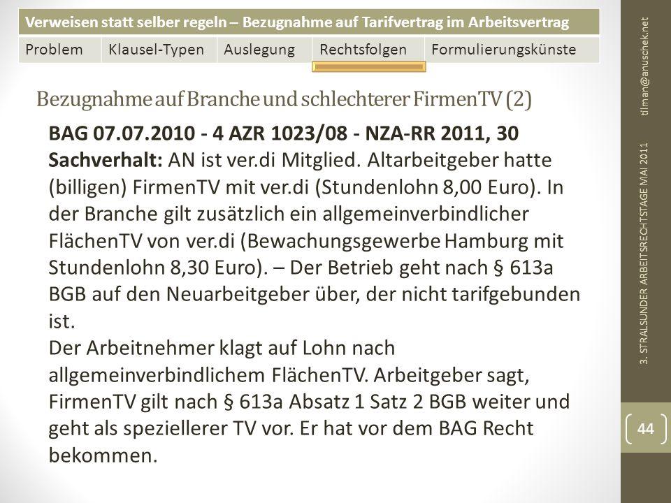 Bezugnahme auf Branche und schlechterer FirmenTV (2)