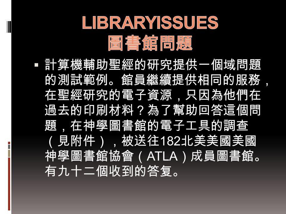 LIBRARYISSUES 圖書館問題