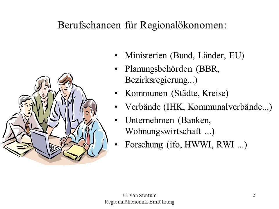 Berufschancen für Regionalökonomen: