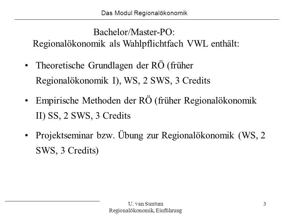 Regionalökonomik als Wahlpflichtfach VWL enthält: