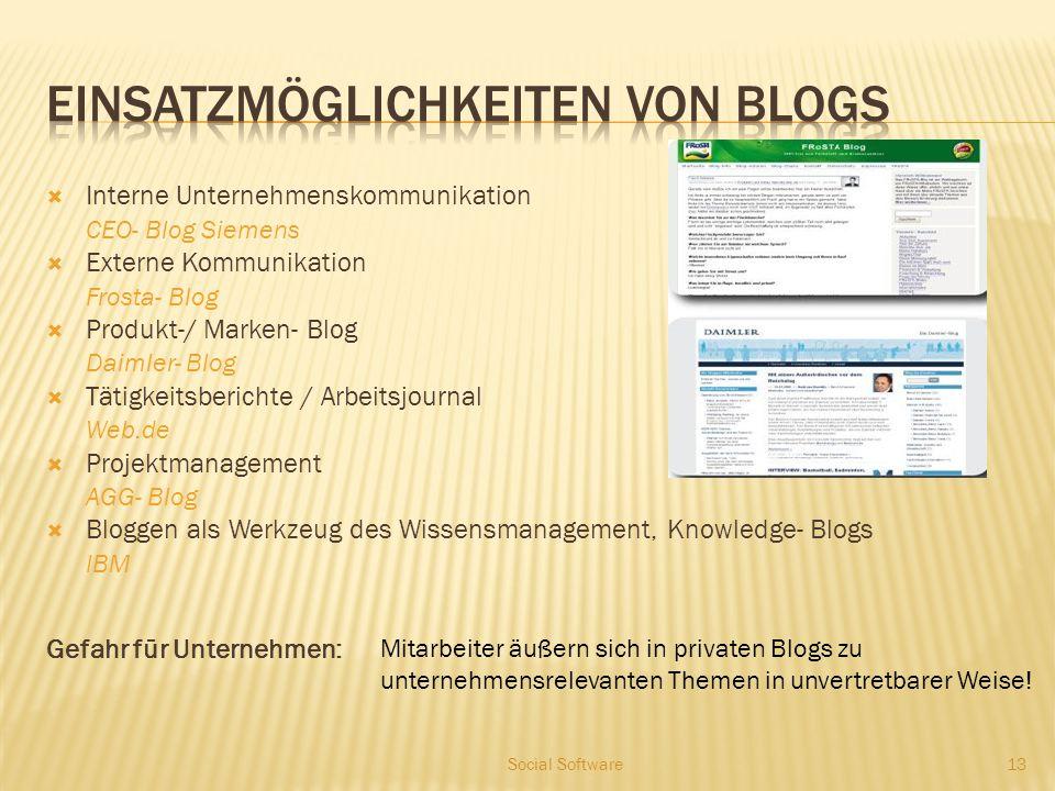 Weblogs und deren Merkmale