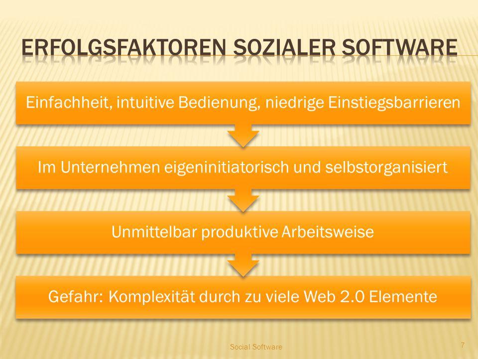 Formen sozialer Software