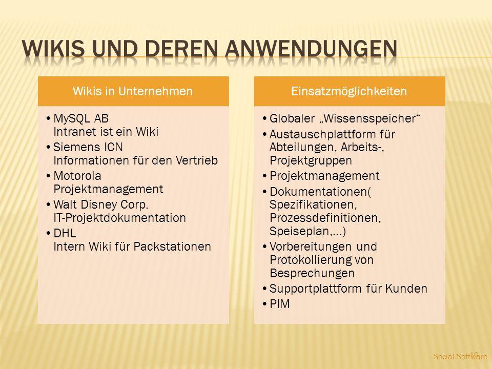 Wiki- Eigenarten (- kultur)