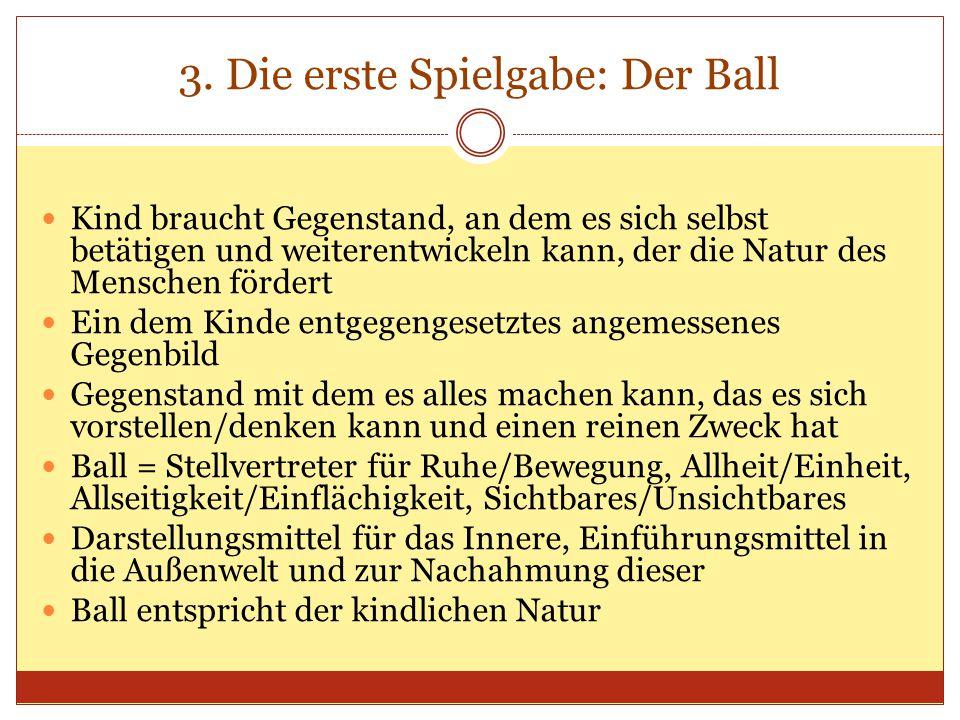 3. Die erste Spielgabe: Der Ball