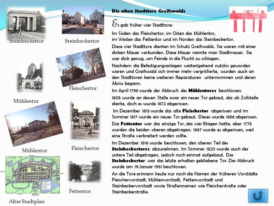 Die alten Stadttore Greifswalds